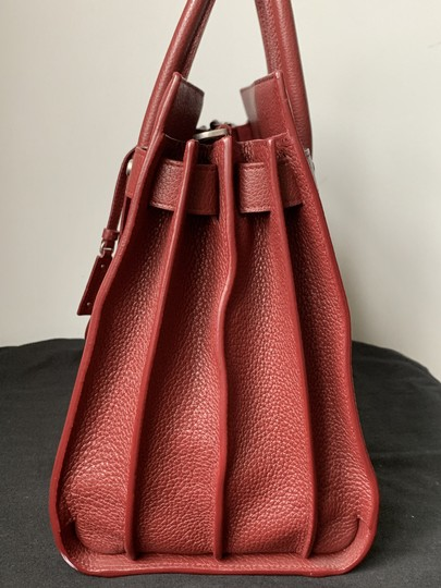 Saint Laurent Sdj Small Sdj Sac De Jour Sdj Tote in Red Burgundy Palissandre Image 5