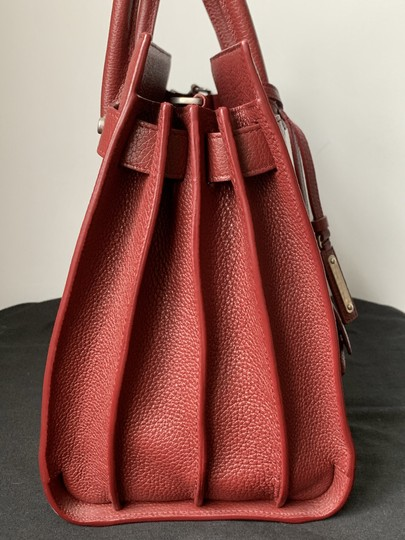 Saint Laurent Sdj Small Sdj Sac De Jour Sdj Tote in Red Burgundy Palissandre Image 6