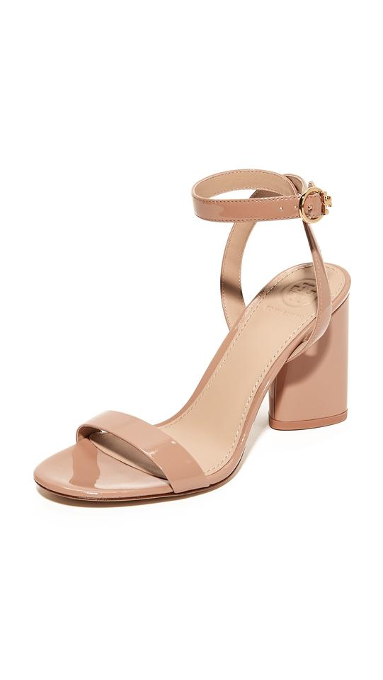 561b7b40d757 Tory Burch 85mm Heels Ankle Strap Chunky Heel Nude Sandals Image 0 ...