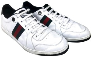 Gucci Leather Low Top Sneakers White Athletic