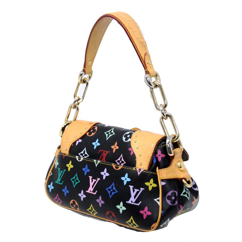 5fcf38b431e9 Louis Vuitton Beverly Monogram Multicolore Canvas Pm Black Cowhide Leather  Satchel - Tradesy