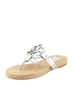 Tory Burch Flip Flop Silver Sandals