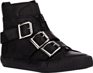 3.1 Phillip Lim Silver Hardware Leather Edgy Black Boots