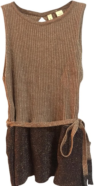 Preload https://img-static.tradesy.com/item/24688326/anthropologie-moth-knit-sleeveless-sweater-tank-metallic-gold-and-brown-top-0-1-650-650.jpg