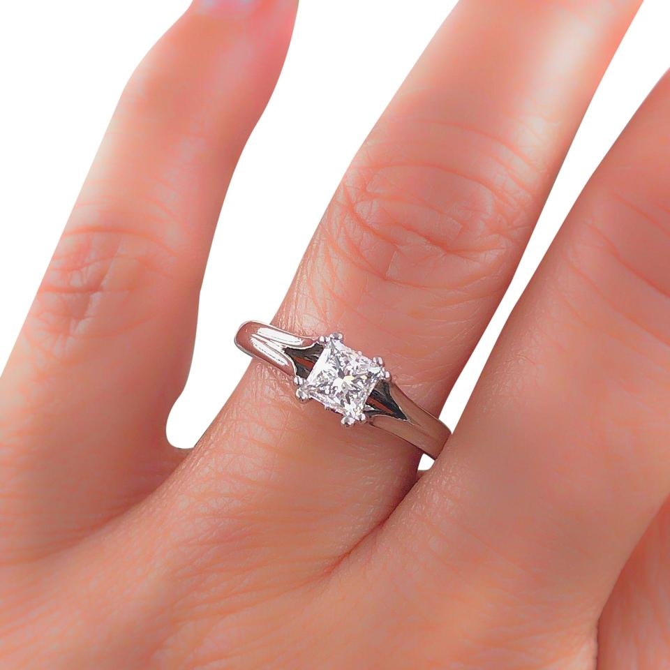 Vera Wang Wedding Rings.Vera Wang Bridal H Si2 Engagement Love Collection 0 85 Tcw Solitaire Ring 67 Off Retail