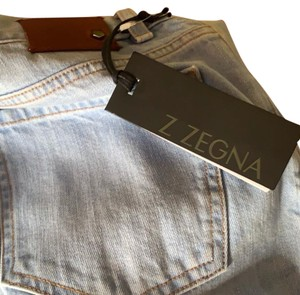 Zegna Straight Leg Jeans-Light Wash