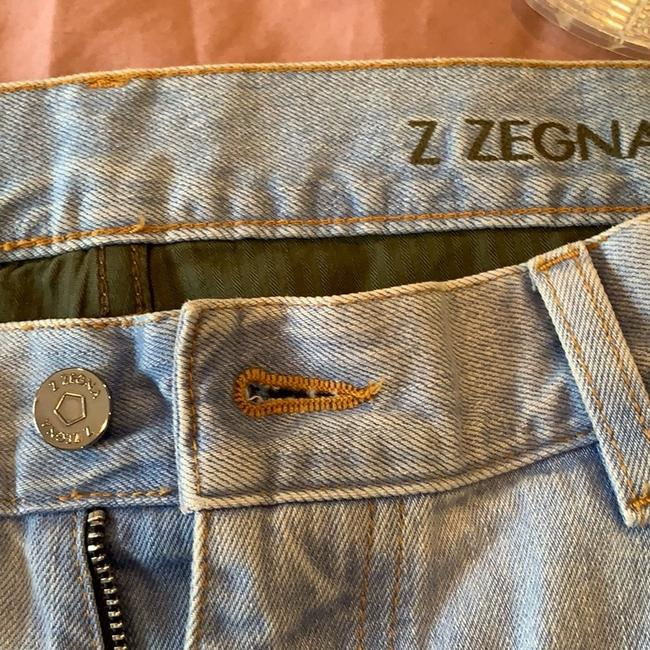 Zegna Straight Leg Jeans-Light Wash Image 2