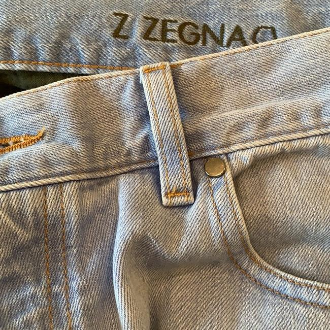 Zegna Straight Leg Jeans-Light Wash Image 7