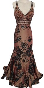 Connie Couture Gown Beaded Rose Mermaid Dress