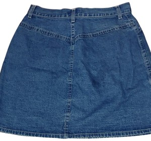 New York & Company Mini Skirt Denim with silver NY buttons
