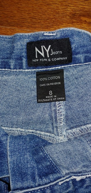 New York & Company Mini Skirt Denim with silver NY buttons Image 2
