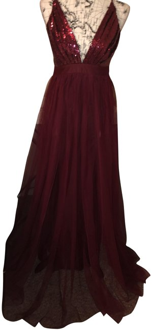 Item - Burgundy Burgundy-red Long Night Out Dress Size 6 (S)