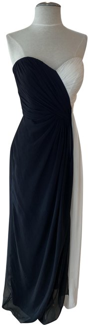 Item - Black/White Luxe Chiffon Style # 2956wh Long Formal Dress Size 6 (S)