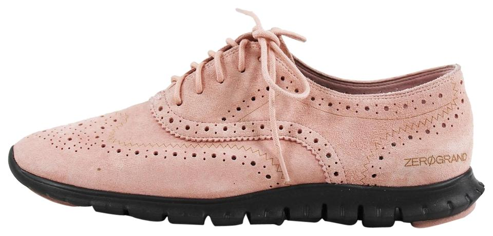 3bfc511b2b4 Cole Haan Women s Zerogrand Wing Oxford Open Pink Flats Size US 6 ...