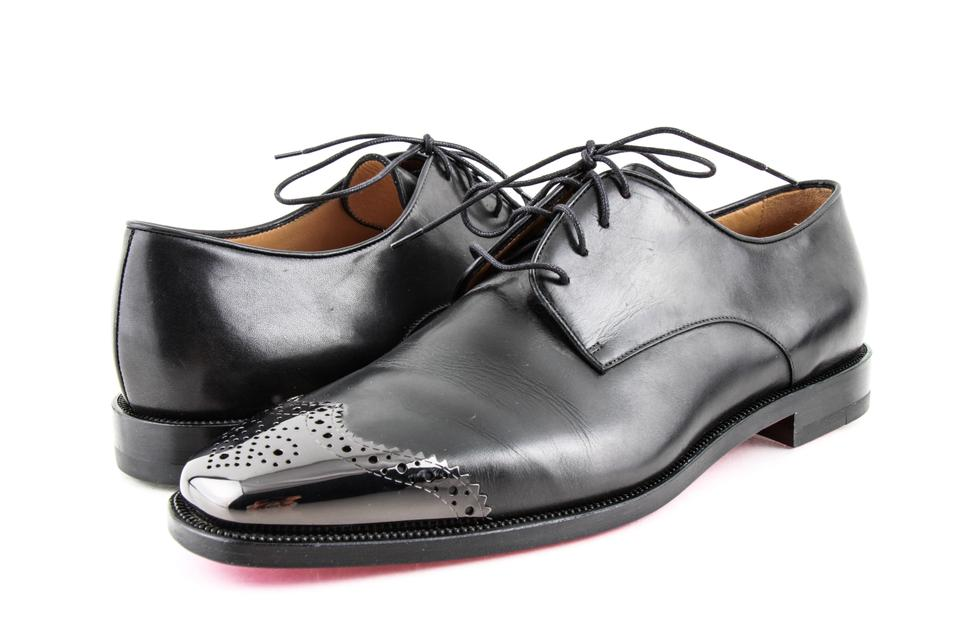 newest f8b5c c35d5 Christian Louboutin Black Men's Gareth Zip Flat Oxfords Shoes 20% off retail
