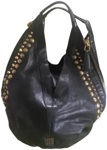 Givenchy Lambskin Leather Gold Hardware Hobo Bag