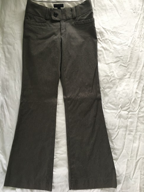Banana Republic Martin Fit Wide Leg Trouser Pants Brown Image 1