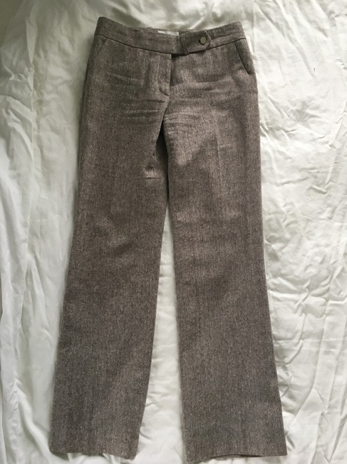 Calvin Klein Boot Cut Pants Brown Tweed Image 1