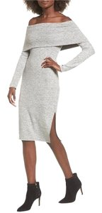 Socialite short dress Light grey on Tradesy