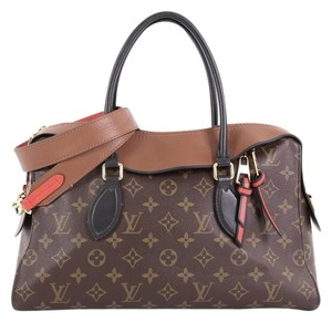 Louis Vuitton Handbag Canvas Leather Tote in brown