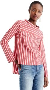 J.Crew Top Red/White