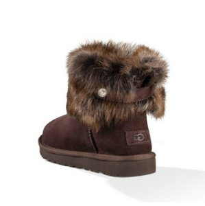62f25493f8e UGG Australia Brown Chocolate W Valentina Demitasse with Swarovski Crystal  Boots/Booties Size US 7 Regular (M, B)