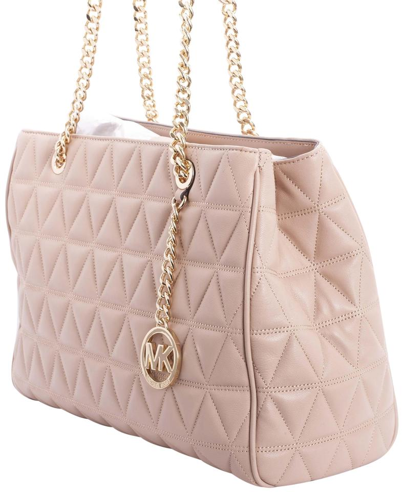 157718cafc1f13 Michael Kors Susannah Large Oyster Quilted Leather Tote - Tradesy