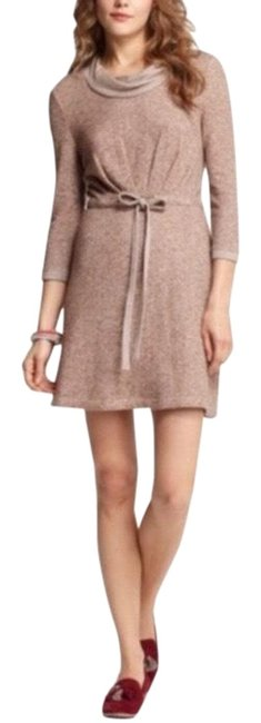 Item - Tan/Taupe Saturday Sunday Knit Drawstring Waist Mini Short Casual Dress Size 4 (S)
