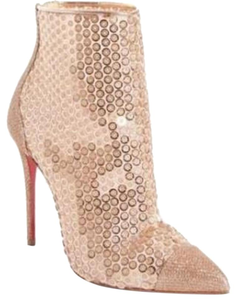 9462e4bbd46 Christian Louboutin Nude Gipsybootie Gipsy 100 Floral Lace Ankle Heels  Boots Booties. Size  EU 37.5 (Approx.