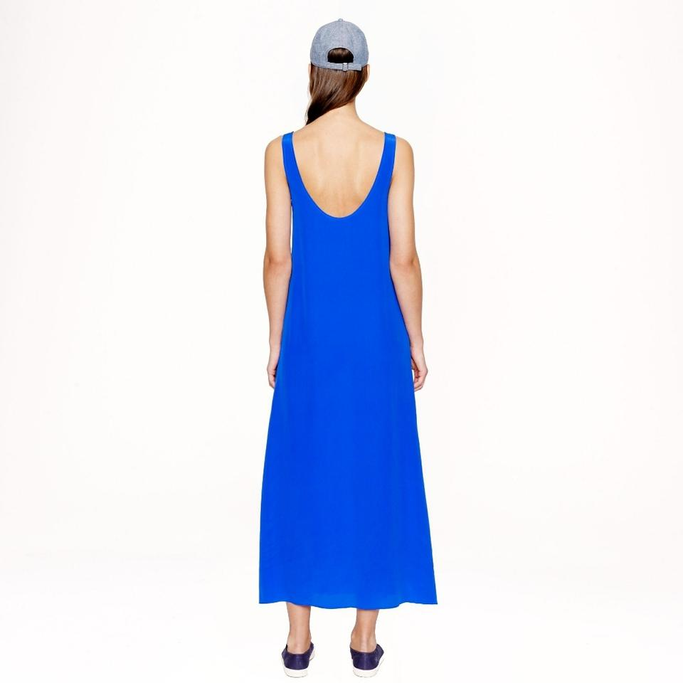 3e553e1656b J.Crew Cobalt Blue Crepe Long Casual Maxi Dress Size 16 (XL