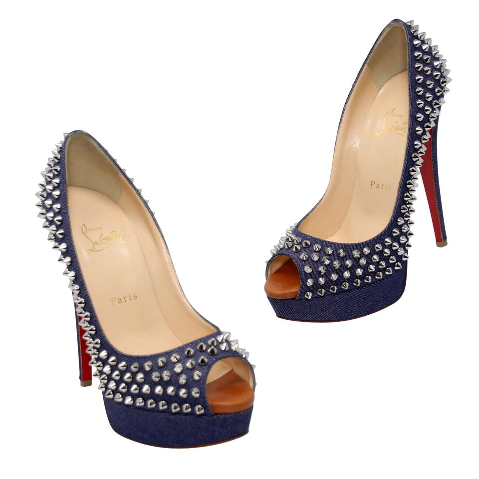 7ae64f8537 Christian Louboutin Red Bottoms Rare Louis Vuitton High Heels Collection  Denim Platforms Image 0 ...