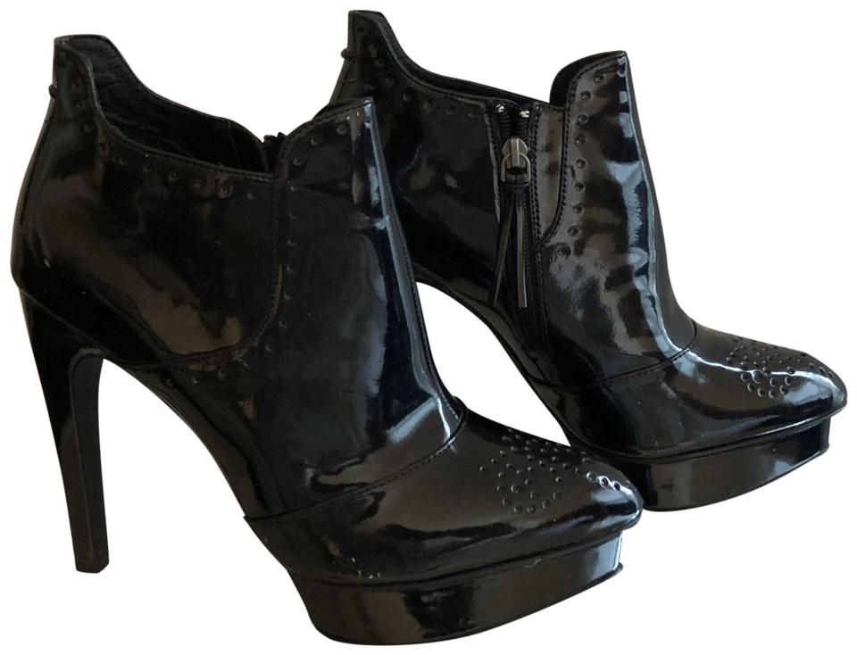Trouve Black Patent Candid Boots Booties