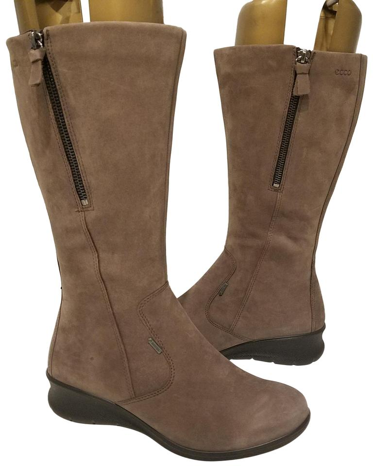 9e1e9cefe2d Ecco Mocha New Babett Gore-tex Leather Extended Calf Womens Boots ...
