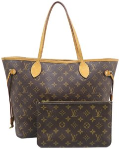 Louis Vuitton Lv Neverfull Canvas Monogram Mm Shoulder Bag