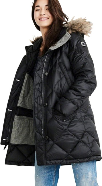 Item - Black Down Filled Parka Coat Size 8 (M)