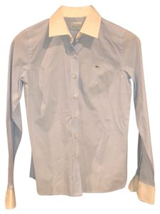 Lacoste Button Down Shirt Light blue with white collar and sleeves