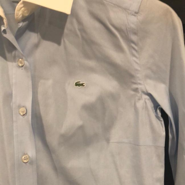 Lacoste Button Down Shirt Light blue with white collar and sleeves Image 1