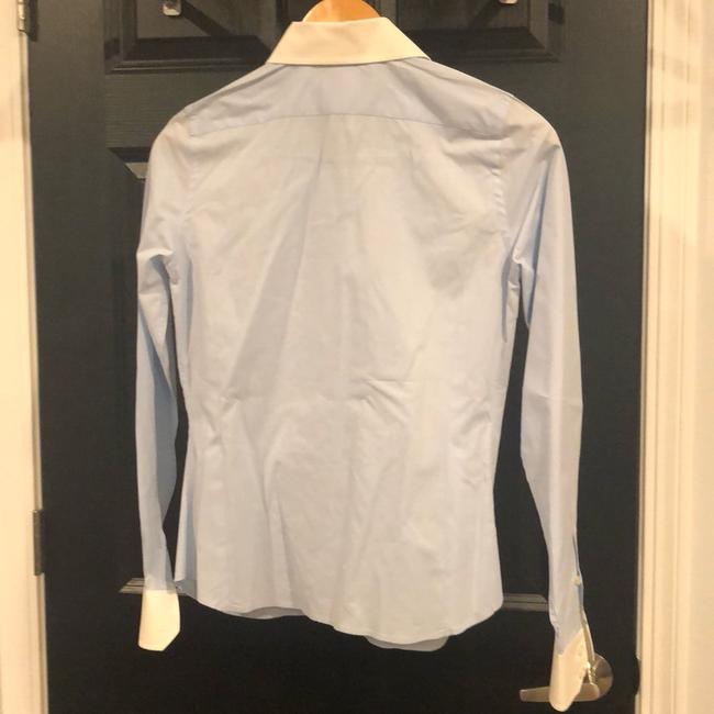 Lacoste Button Down Shirt Light blue with white collar and sleeves Image 2