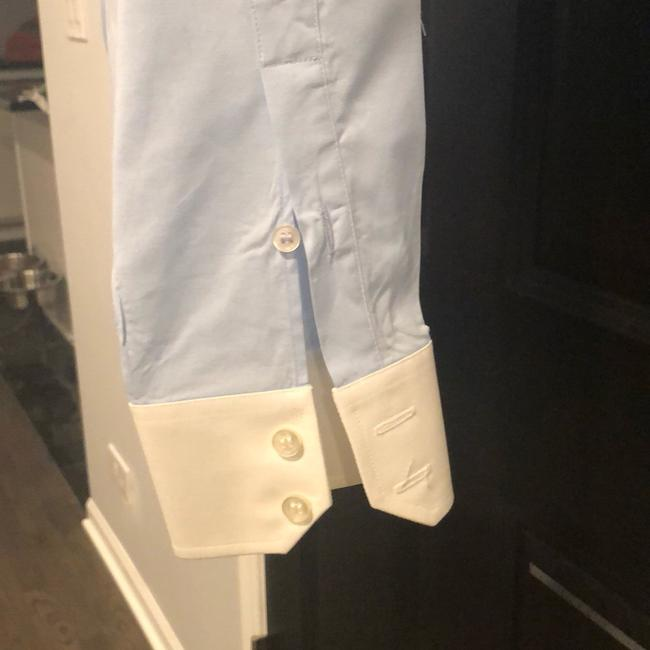 Lacoste Button Down Shirt Light blue with white collar and sleeves Image 4
