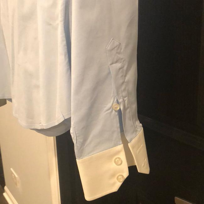 Lacoste Button Down Shirt Light blue with white collar and sleeves Image 5