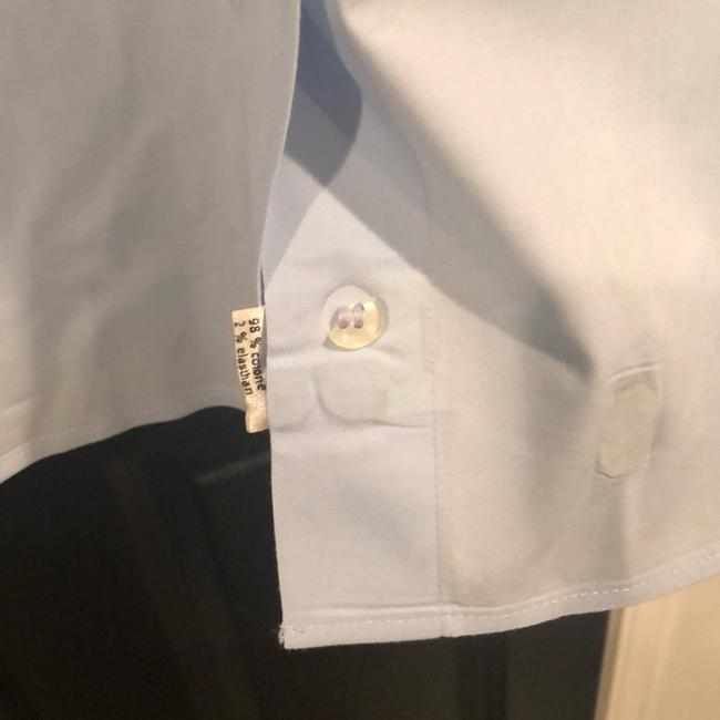 Lacoste Button Down Shirt Light blue with white collar and sleeves Image 6