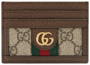 Gucci NEW Gucci OphidIa Canvas GG Supreme Card Case