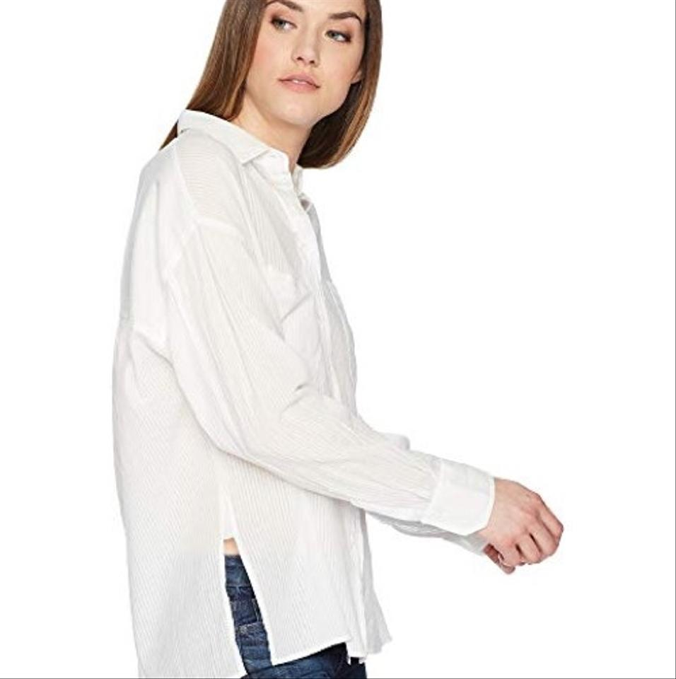 3aafde9f5d059b Vince White Double Pocket Blouse Size 12 (L) - Tradesy