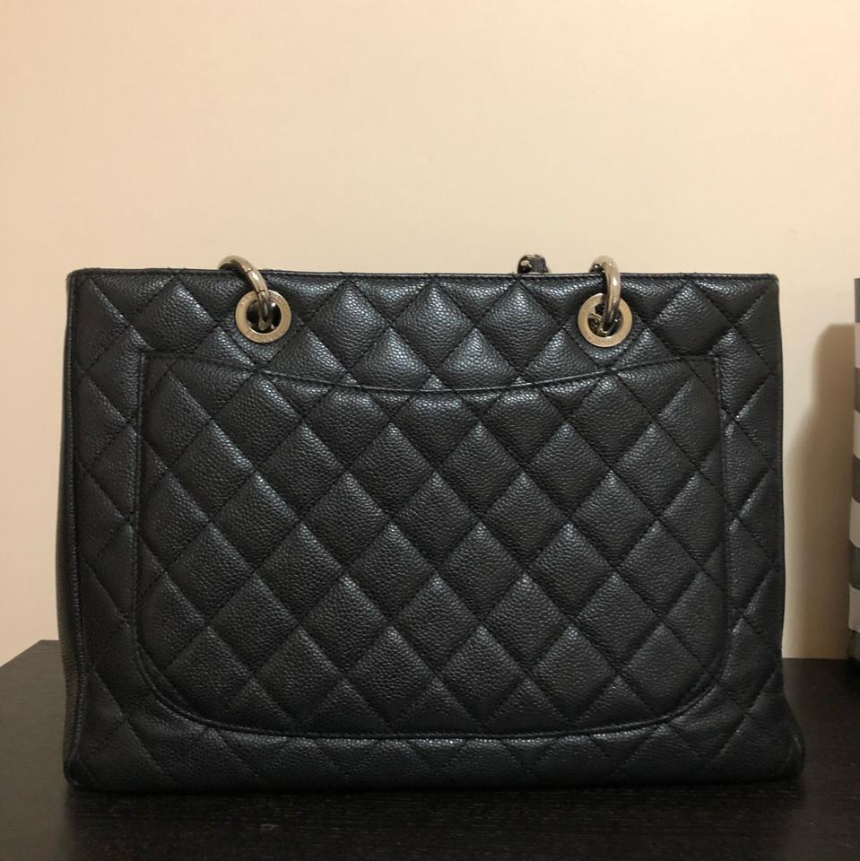 74083e73f1f4 Chanel Shopping Tote Quilted Grand Gst Black Caviar Tote - Tradesy