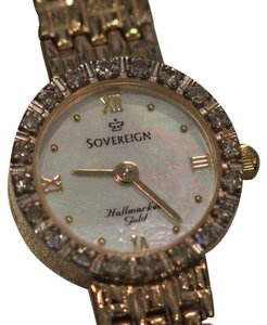 Sovereign diamond gold watch