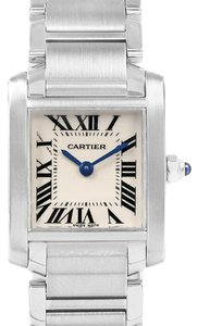 Cartier Cartier Tank Francaise Silver Dial Steel Quartz Ladies Watch W51008Q3