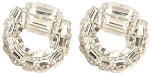 Gucci Gucci Horsebit Large Silver Embellished Crystal Earrings