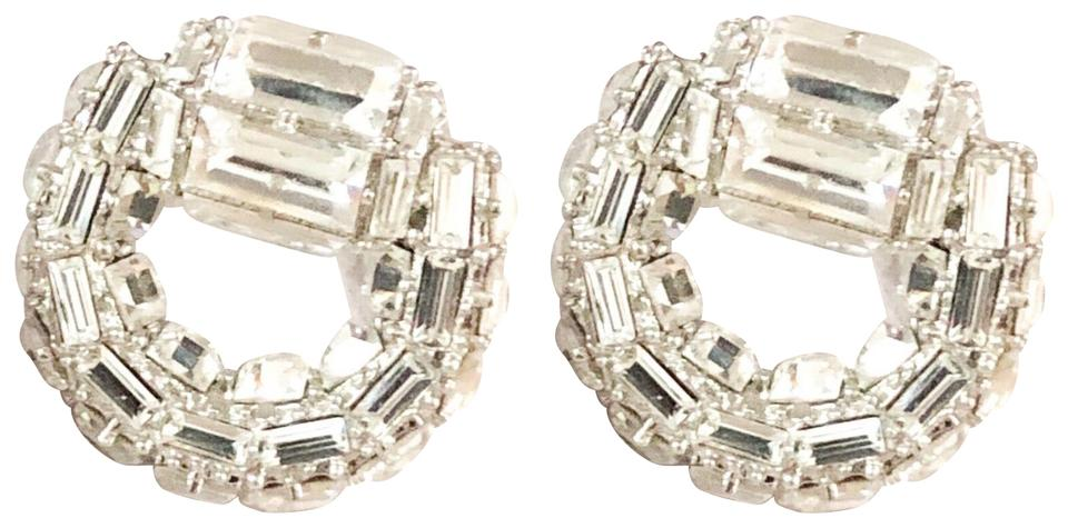d05d1bc160a0 Gucci Gucci Horsebit Large Silver Embellished Crystal Earrings Image 0 ...