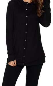 Peace Love World Button Down Shirt Black