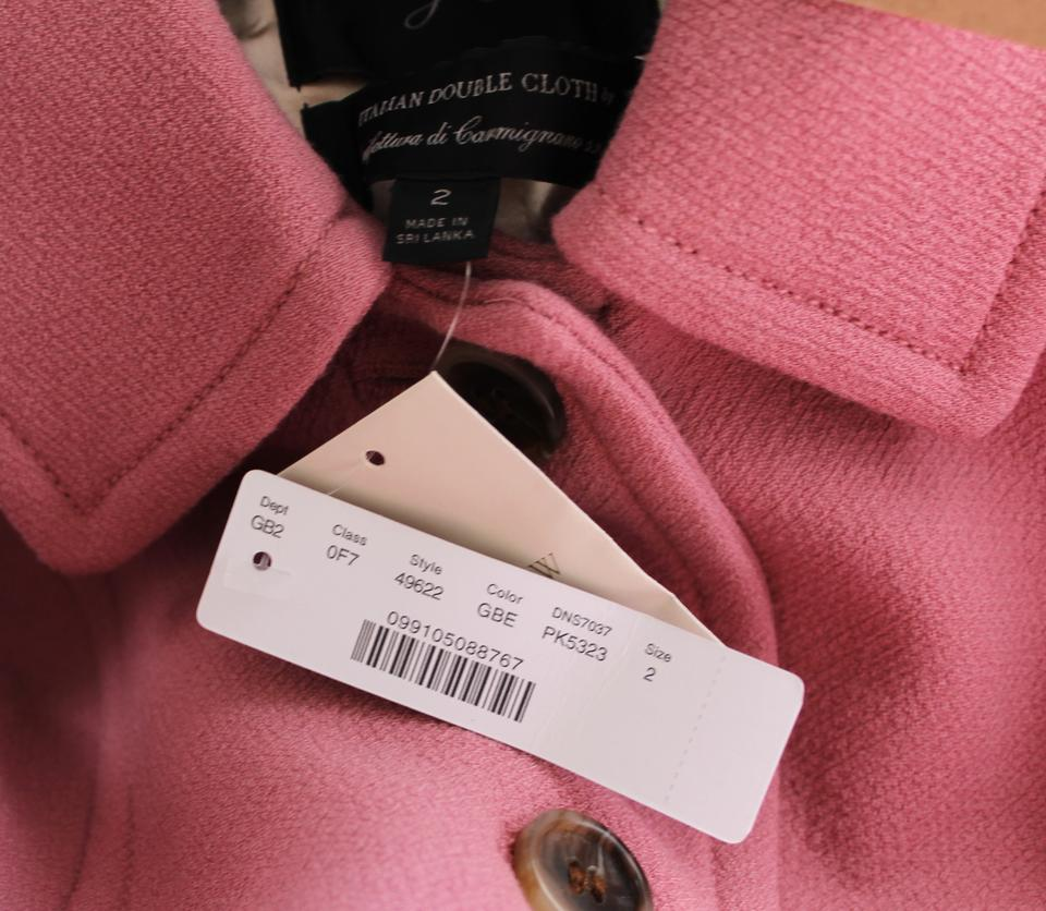 JCrew Double-Cloth Wool Lady Day Coat Thinsulate Sizes 2-10 Fuchsia Pink 49622